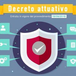 GDPR - Decreto Attuativo del 4 settembre 2018