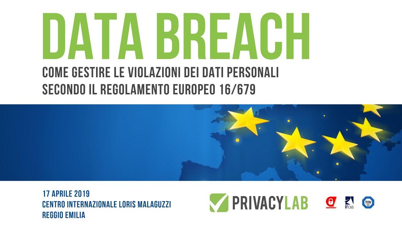 data breach gestione violazioni dati parsonali